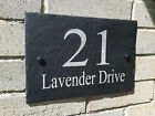 Personalised Slate House Door Gate Number Sign Plaque Any Name & Number (Ti)