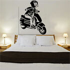 Vespa Monkey Decal Vinyl Wall Sticker  Art Scooter Retro Lambretta