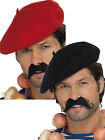 Adult French Beret Fancy Dress Hat Costume Acccesory Frenchman France Stag Night