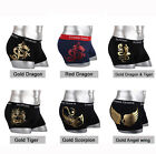 NEW Young Mens Underwear Boxer Briefs shorts Cotton Trunks Sexy Gold leaf M L XL