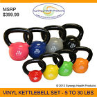 VTX Complete Vinyl Kettlebell Set - 5 lbs. to 30 lbs. - Great for Crossfit!