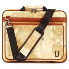 Laptop notebook pouch bag case Pattern of World Map macbook pro13 inch strap new