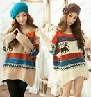 Women Winter cold Long Sleeve Knitwear Knit Warm Jumper Casual Loose Sweater