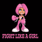 Breast Cancer FIGHT LIKE A GIRL Beautiful Design TShirt All Colors & Sizes