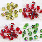 50pcs Faceted Bicone Glass Crystal Spacer Beads Jewelry Findings Waterdrop 8mm