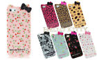 Fashion iPhone 4 4s, 5, 5s Hello Kitty Lovely Bow Pastoral Floral TPU Case Cover