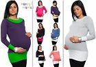 Pregnancy Maternity COTTON Stretch Jumper Top Tunic Long Sleeve UK size 8-14 239