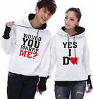 4 Colors Yes I do ! Lovers Couples Hoodie Leisure Thick warm Women Men W5098
