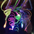 LED LIGHT CHANGE USB Charging Cable charger FOR Apple iphone 4S 5 6 7 galaxy s3