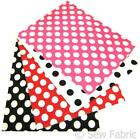 Polka Dot Craft Felt Rectangles 23x30cm A4 Acrylic Red White Black Pink