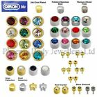 100% Genuine Caflon Blu Stud CZ Shape Stone Ear Piercing Earrings - Style Choice
