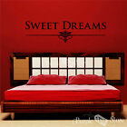 Sweet Dreams Vinyl Art Home Wall Room Bedroom Quote Decal Sticker Decoration