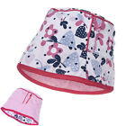 Trespass Nerina Kids Reversible Hat - Pink or White Patterned Sun Hat