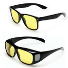 Sport HD Unisex Night Vision Driving Sunglasses Yellow Lens Wrap Eye Glasses New