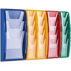 6 x A4 Wall Mounted Leaflet Dispenser choice of 7 colours clear fronted displays