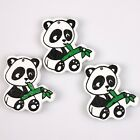 Hotsell Lovely Panda Animal Colorful Wooden Pendants Charms Findings Fit DIY