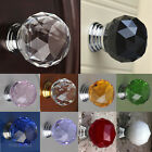 30mm Crystal Glass Door Knob Drawer Pull Cabinet Kitchen Handle Wardrobe Fashion
