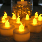 24/60/100 PCS Electronic Tealight LED Candle Cool White Warm White Amber Yellow