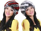 Woman's Fashion Warm Winter Fur Hat / Beaver Rabbit Fur Flower Knitting Hat