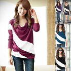 NEW Fashion Women's Batwing Top Dolman Loose T-Shirt Blouse Long Sleeve 5Color