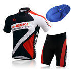 Mens Bicycle Cycling Wear Outdoor Sports Jerseys+Shorts Top Pants Set Sz M-2XL