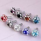 3.5mm Crystal Mushroom Jack Anti Dust Metal Plug Ear Cap Stopper For Cell Phone