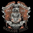GARAGE BUILT CUSTOM VTWIN EAGLE BIKER SLEEVELESS T SHIRT W/FREE HARLEY DECAL