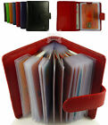 Quality Leather Credit Card Wallet/Holder for 20 Cards in 6 Colours
