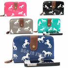 Ladies Designer Oilcloth Horses Print Purse and Wallet Women Girls Coin Purses