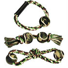 Grriggles Camo Rope Dog Toys Figure 8 Ring Bone Tug Toy Hard To Find - Clearance