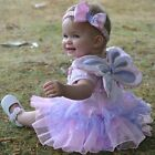 NEW! TRAVIS BABY FAIRY SET WINGS FANCY DRESS TODDLER GIRL 3-6-12-18-24-36 MONTHS