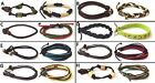 SET 2 BRAND NEW LEATHER, CLOTH MIXED BRAND BRACELET BANDS ADJUSTABLE, ONE SIZE