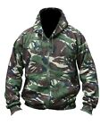Army Hooded Full Zip Top Hoodie Military Combat DPM Camo Fleece Jacket New