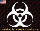 Biohazard Vinyl Decal Sticker For Wall, Car, Laptop Many Colors And Sizes