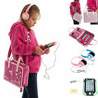 Girls Kids Bag Leather Case, Headphones + Screen Protector for LeapPad Ultra XDi