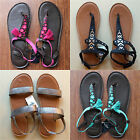 Hollister Women's Leather Flip Flops Classic Sandals Beach Treads Abercrombie