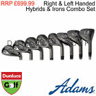 ADAMS GOLF IDEA TECH V4 FORGED COMBO SET-IRONS UTILITY RESCUE CLUB HAND NEW TOUR