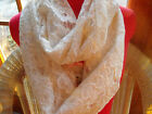 BEAUTIFUL HANDMADE LACE INFINITY SCARVES-SOFT AND FEMININE- LIGHT AND LOVELY