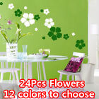 Big 24 Pcs 14 Colors Fashion Flower Removable Wall Decor Sticker Art DIY Your