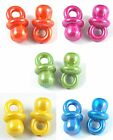 32g approx 35 AB COLOUR DUMMY / PACIFIER CHARMS approx 20x11x11mm hole: 5mm