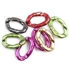 New Charms Mixed Colors Bump Oval Hollow Acrylic Jump Rings Fit Craft DIY