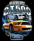 FORD SHELBY GT 500 YELLOW MUSTANG WORK SHIRT DICKIES BUTTON UP GARAGE