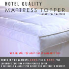 Full 400g & 800g Fill Toppers - Mattress Topper, Single, Double, King, Superking