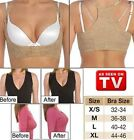 Breast Shaping & Cleavage Enhancing Push Up Bra with Back Support Beige
