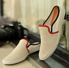 Men's Flats Loafers Slip On Mules Fashion Mesh Slipper Sandals Hollow Breathable