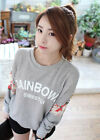 Korean Women's Fashion Floral Lace Batwing Sleeve Crew Neck Tops Trendy T-shirt