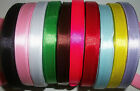 "25 yards Reel of  3/8"" 10mm wide Satin Ribbon Choice of Colours"