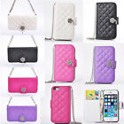 PU Leather Flip Wallet Portable Chain Package Case Cover For iPhone5 5S 4 4S HYL