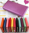 Women's Clutch Soft Leather Wallet Lady  Zip lady Long Card Purse Handbag Case