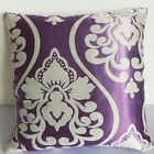 Square Cushion Cover Viovlet Thick (Jaquard)  Damask Satin Custom Made cdcc-33